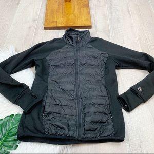 Avalanche Black Fleece Puffer Zip Jacket Coat 3142